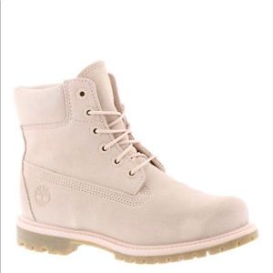Timberland Suede Boots Light Pink